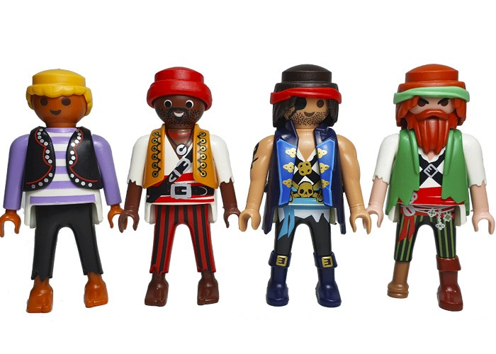 Playmobil Piratas Pack 4 Figuras playmobil