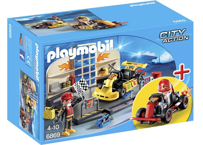 Playmobil Set taller de Karts playmobil