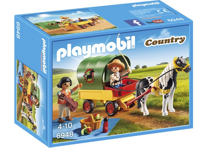 Playmobil 6948 Picnic con pony y carro playmobil