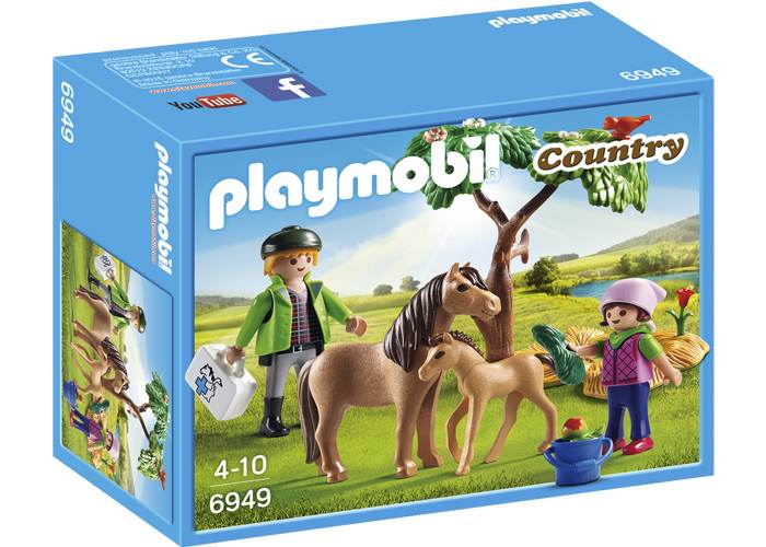 Playmobil Veterinario con ponis playmobil