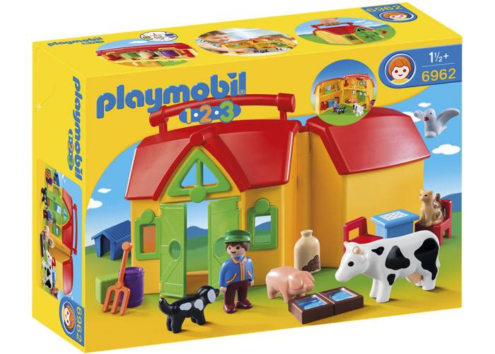 Playmobil 1 2 3 Granja Maletin playmobil