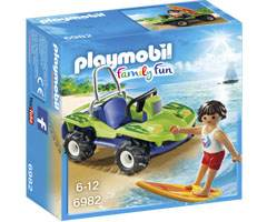 Playmobil Surfista con quad Buggy playmobil