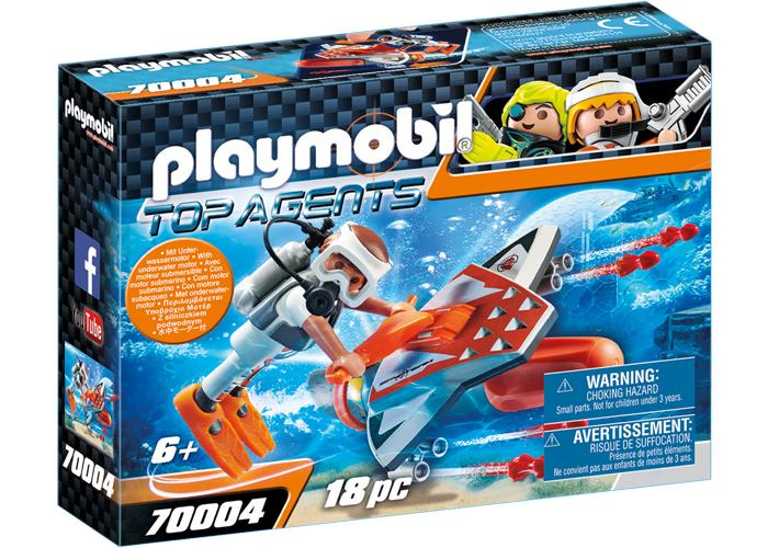 Playmobil 70004 Deslizador Submarino Top Agent playmobil
