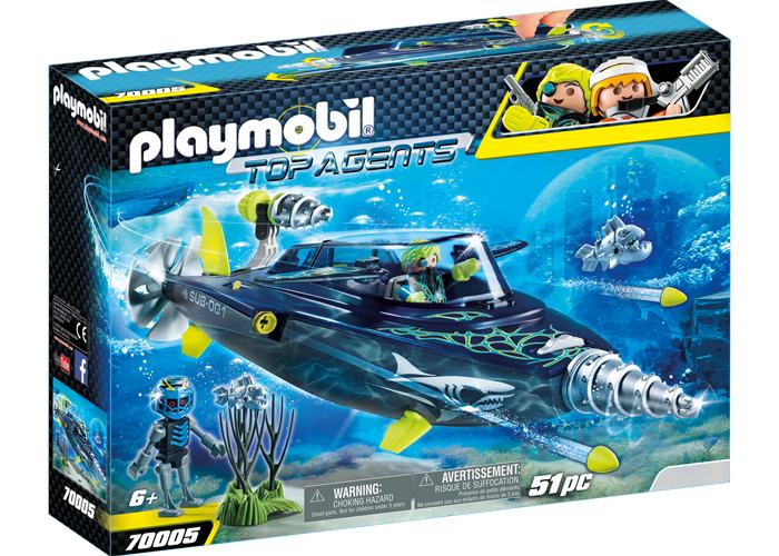 Playmobil 70005 Submarino taladro Destructor  playmobil