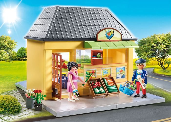 Playmobil 70375 Casa Supermercado  playmobil