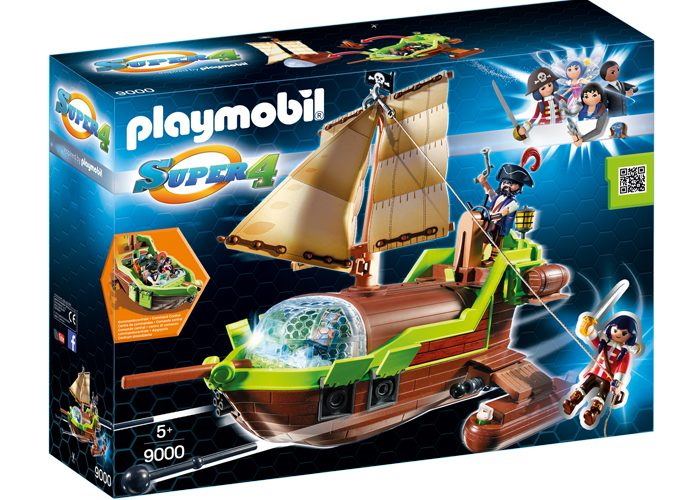 Playmobil Super 4 barco Pirata Camaleón con Ruby playmobil