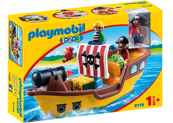 Playmobil 1 2 3 Barco Pirata playmobil