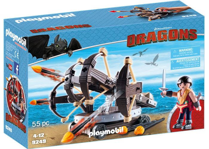 Playmobil Dragons Eret con ballesta playmobil