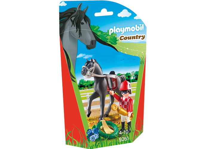 Playmobil Jockey con caballo playmobil