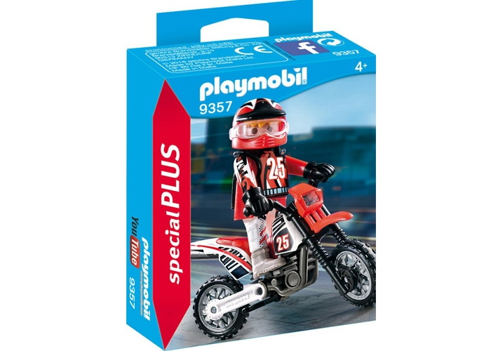 Playmobil 9357 Piloto moto cross playmobil