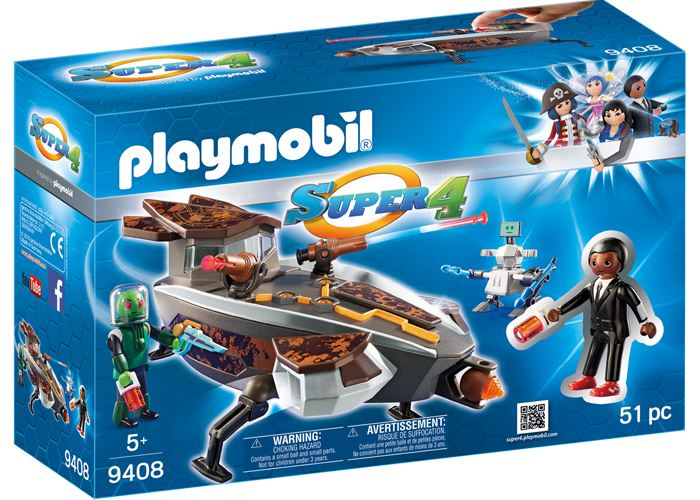 Playmobil 9408 Gene y Sykronian con nave playmobil