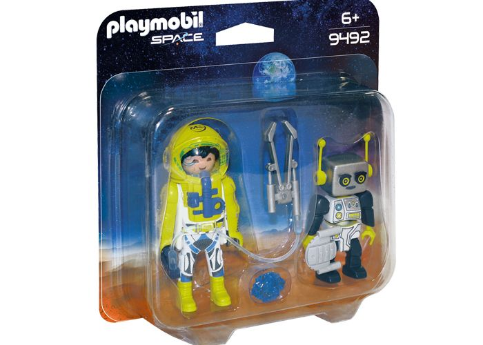 Playmobil 9492 Duo Pack Astronauta y Robot playmobil