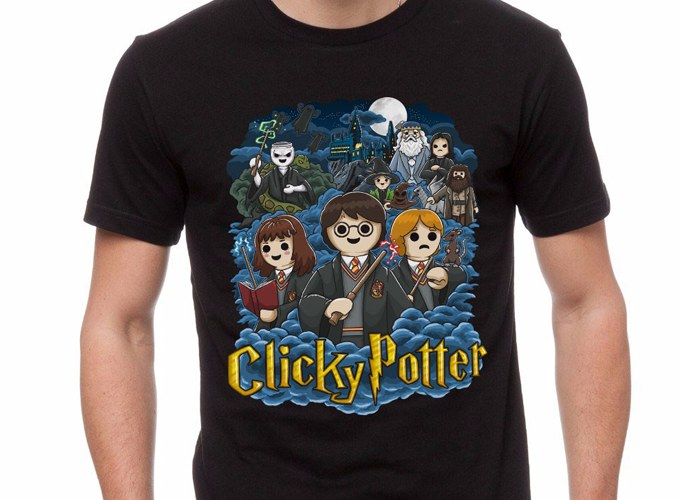 Camiseta Click Potter Chico Talla XL playmobil