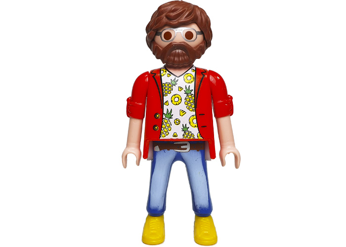 Playmobil Chico Camiseta Piñas playmobil