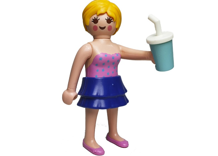 Playmobil Chica Bebiendo Refresco playmobil