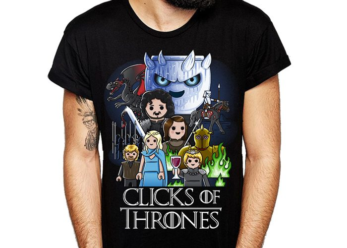 Camiseta Click of Thrones Talla M playmobil