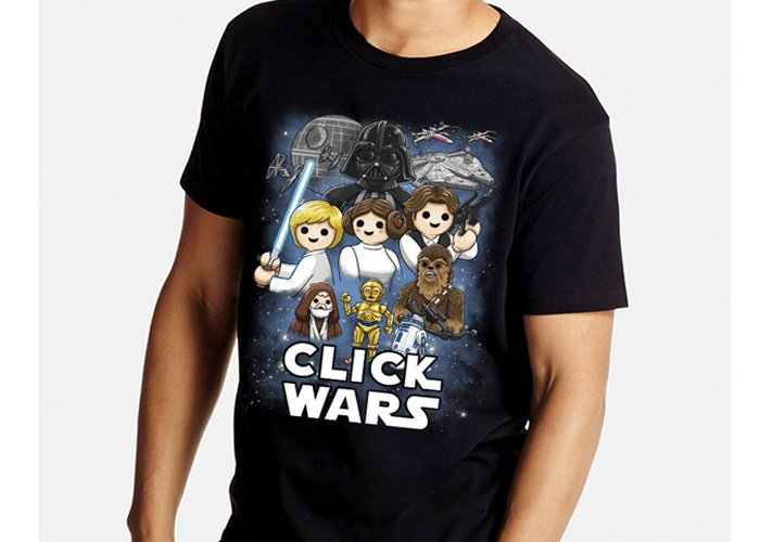 Camiseta Click Wars Chico Talla XL playmobil