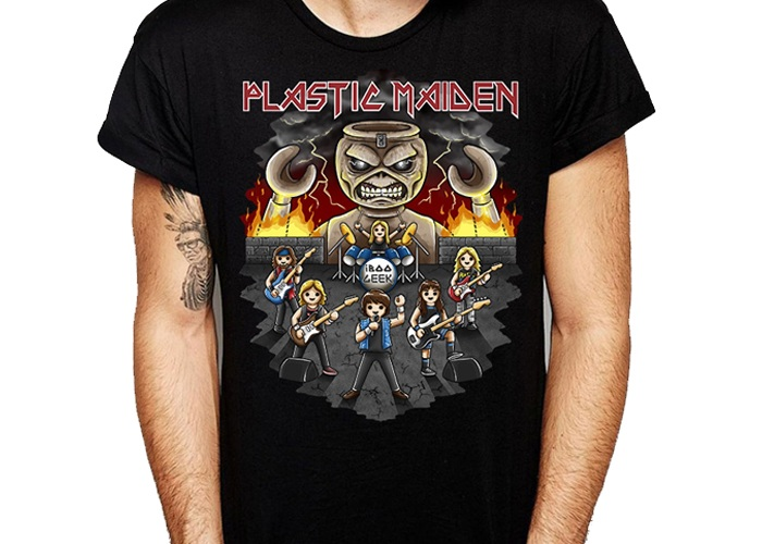 Camiseta Plastic Maiden Chico Talla XL playmobil