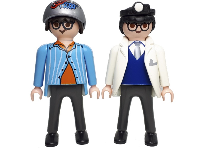 Playmobil Dr Egon Splenger y Louis Tully playmobil