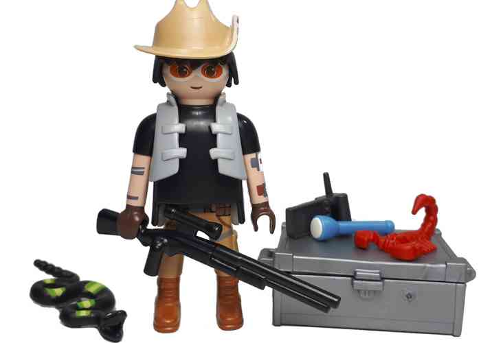 Playmobil explorador con serpiente playmobil