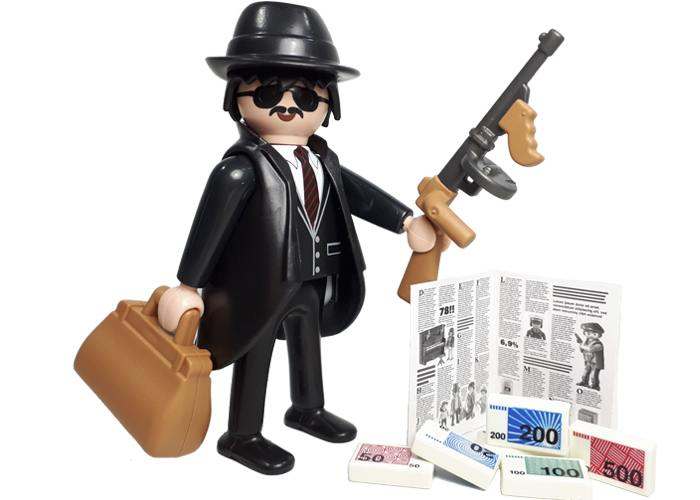 Playmobil Ganster con metralleta playmobil