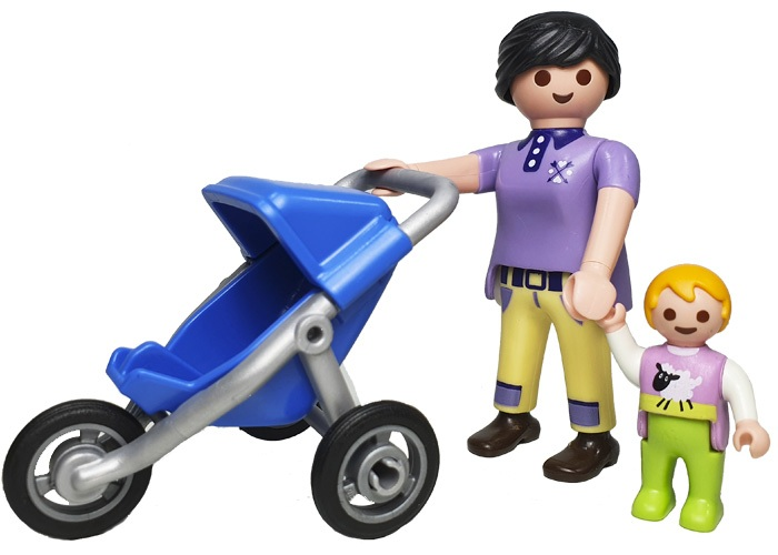 Playmobil Madre con carro y bebé playmobil