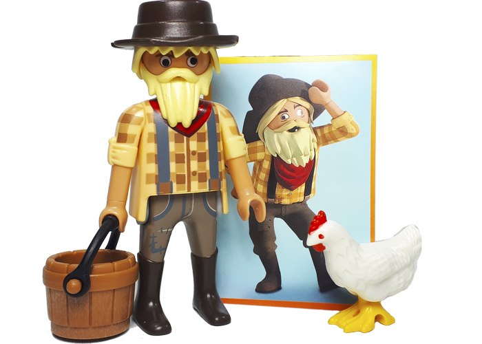 Playmobil Granjero con gallina The Movie playmobil