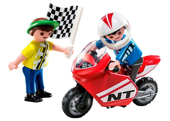 Playmobil Niños con mini moto playmobil
