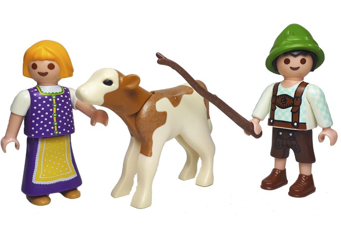 Playmobil Niños con Ternero playmobil
